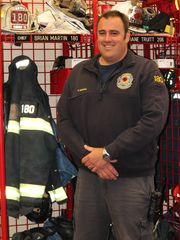 Brian Martin is the chief of the Bethany Volunteer Fire Co. Martin has a full-time job. Martin said it is getting harder for fire departments to recruit volunteers. (Photo: Sharon Smith photo