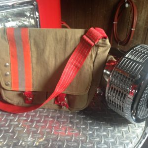 Recycled Turnout Gear Messenger Bag
