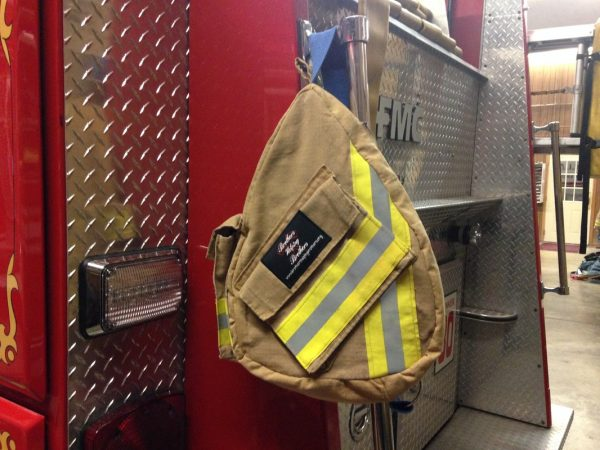 Recycled Turnout Gear One Strap Backpack