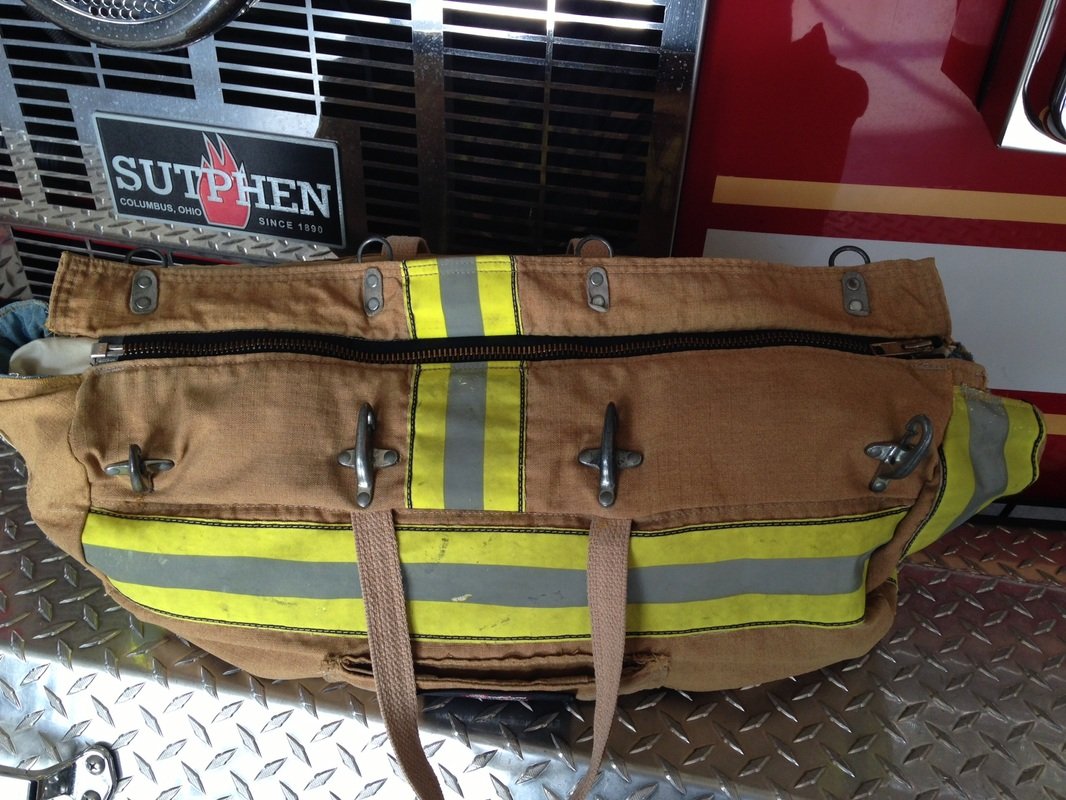 Recycled Turnout Gear Duffle Bag
