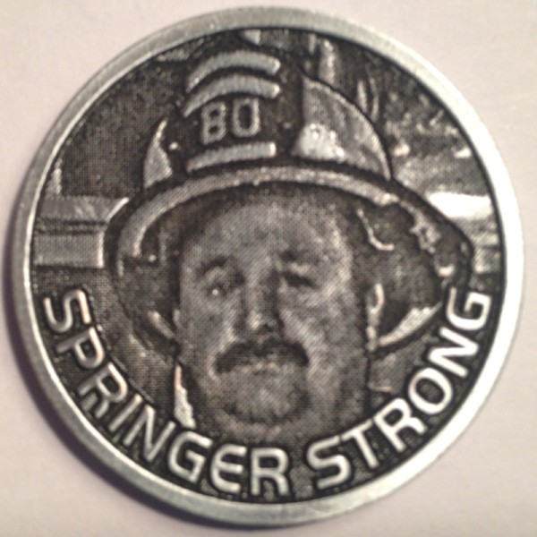 "Phillipsburg Fire Department ""Springer Strong"" Challenge Coin Back"