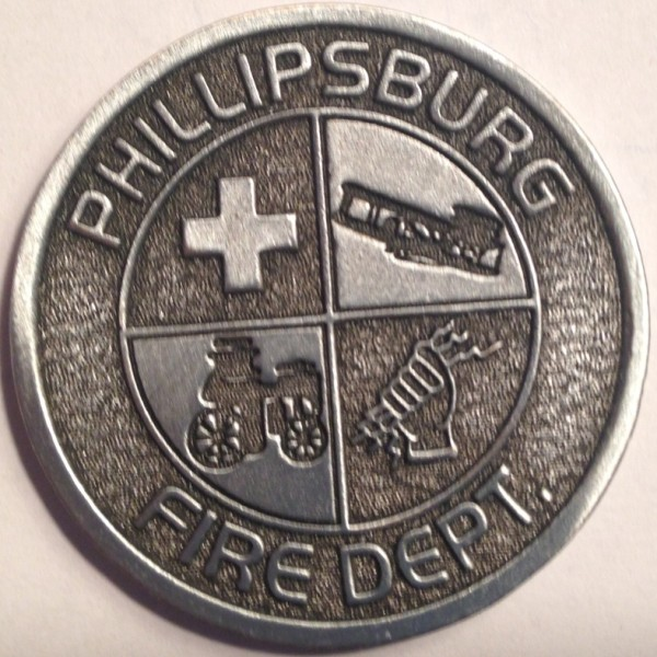 "Phillipsburg Fire Department ""Springer Strong"" Challenge Coin Front"
