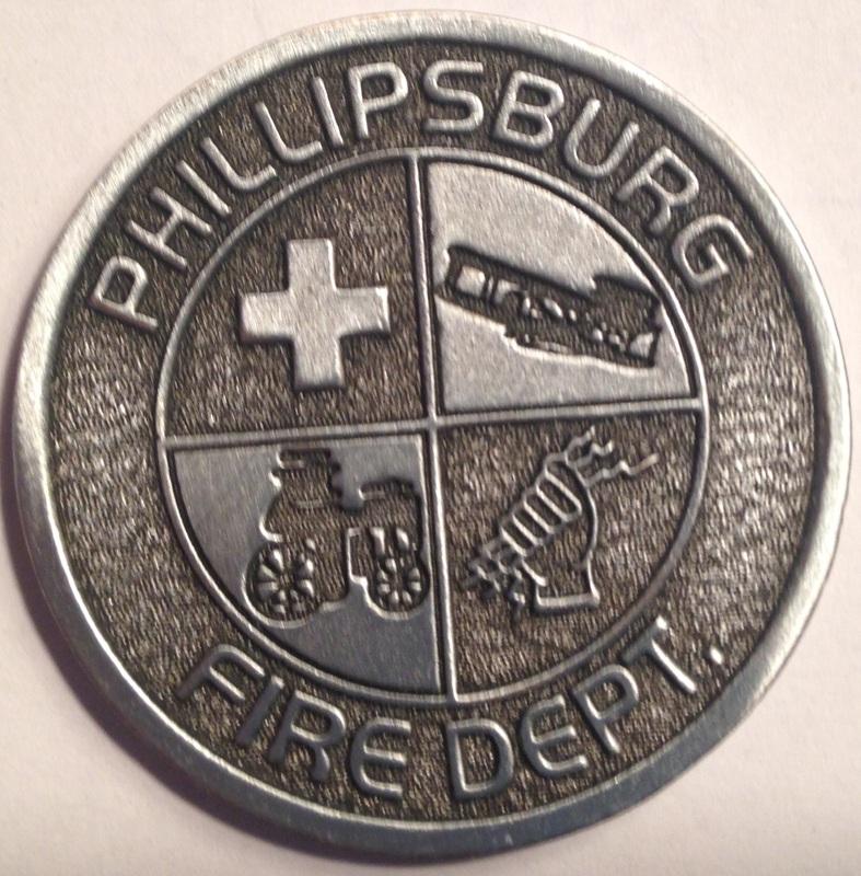 "Phillipsburg Fire Department ""Springer Strong"" Challenge Coin Front"