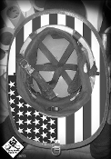 True USA Black and White - Under Helmet Decal