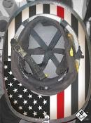 True USA Red Stripe - Under Helmet Decal (Copy)