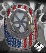 USA Diamond Plate - Under Helmet Decal