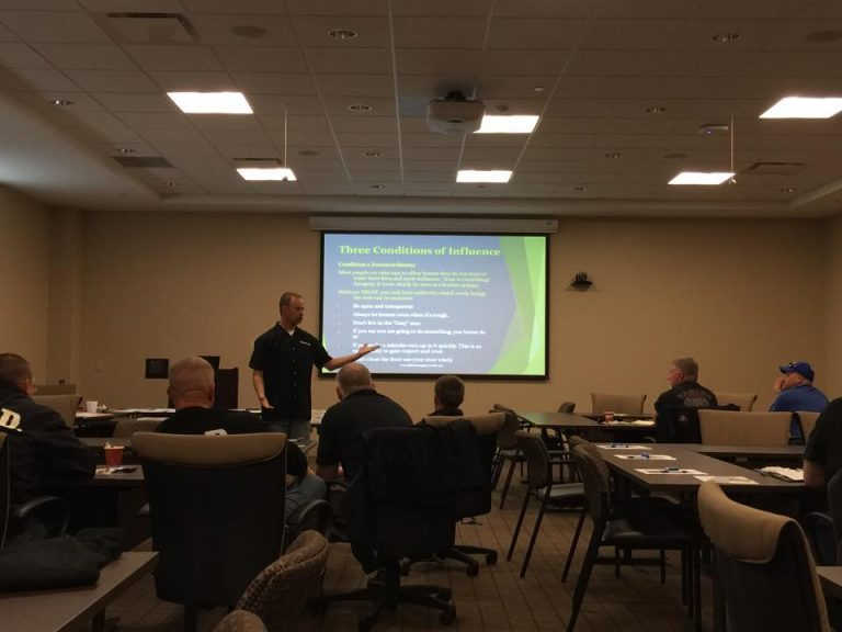 Fort Walton Beach, Florida Battalion Chief Shannon Stone presenting Nuggets from the Right Seat in fall of 2015 at the Brothers Helping Brothers Leadership Conference.