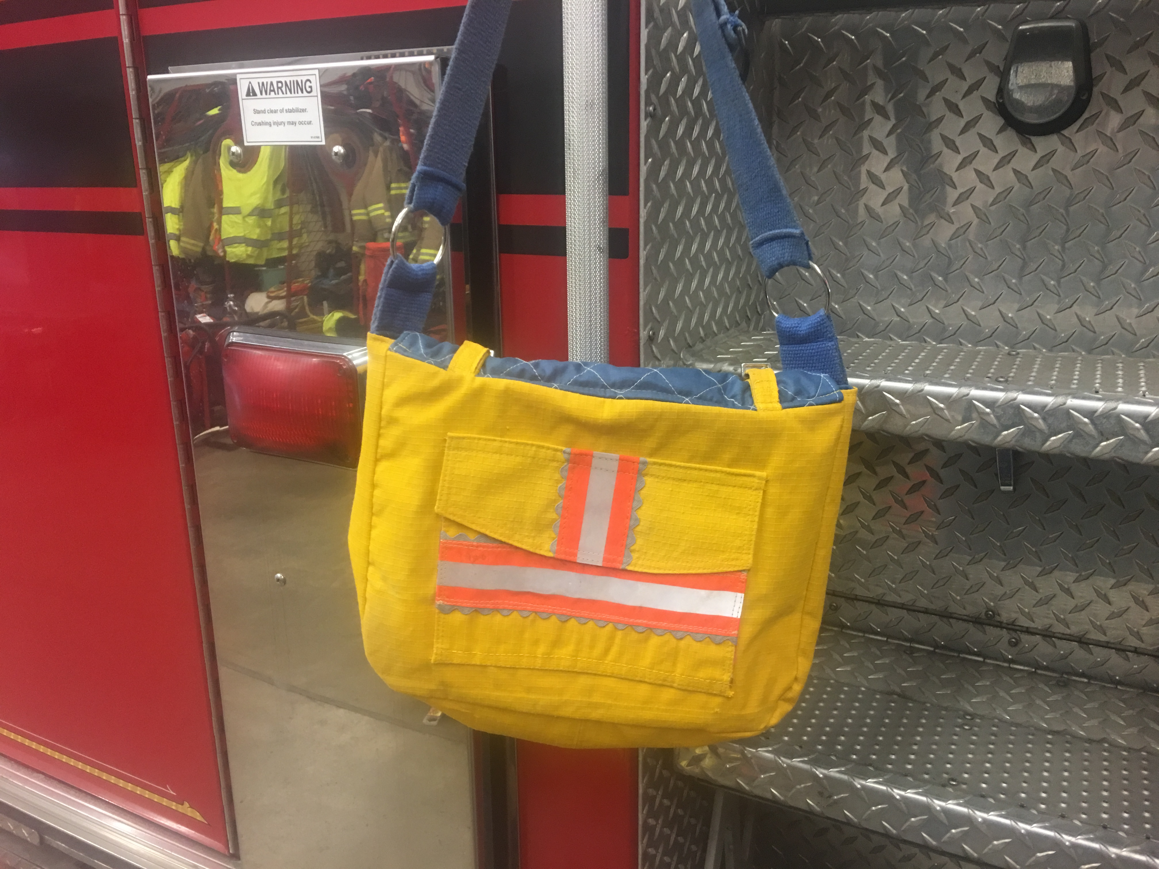 Recycled bunker gear bags - Recycled Turnout Gear Large Purse