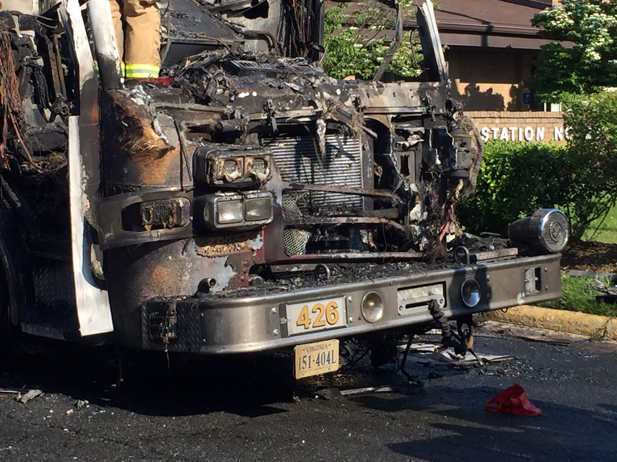 Virginia Fire Station Catches Fire Firetruck Destroyed Brothers Helping Brothers