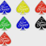 4″ Spade Series Stickers